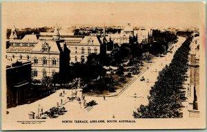 1925 ADELAIDE, South Australia RPPC Photo Postcard North Terrace Street Scene