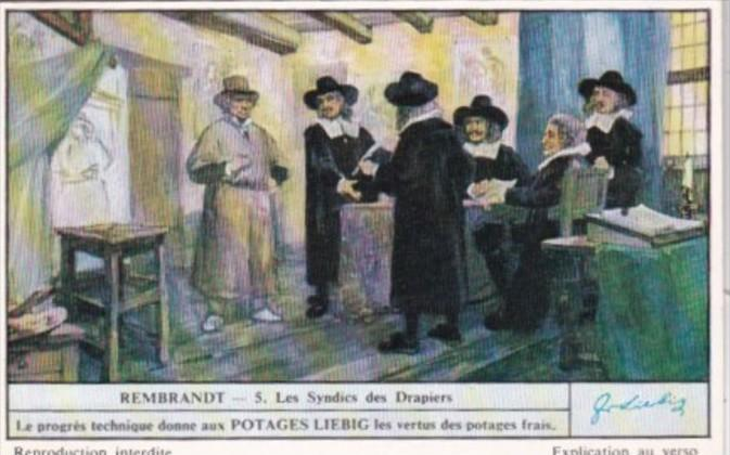 Liebig Trade Card S1481 Rembrandt II No 5 Les Syndies des Drapiers