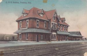 C. N. R. Station, Railroad Tracks, Trenton, Ontario, Canada, 1910-1920s