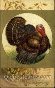 Artist Ellen Clapsaddle, Thanksgiving 1910 crease right bottom corner some co...