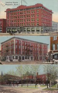 Minnesota Rochester Hotel Zumbro Cook's Hotel & Hotel Kahler 1912