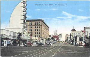 Linen of Broadway & Bowling Sign San Diego California CA