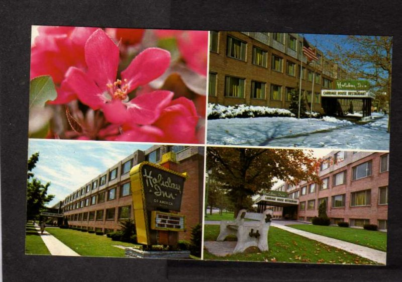 NY Holiday Inn Hotel Watertown New York Postcard Carriage House Restaurant