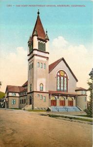 Berkeley California~First Presbyterian Church On A Hill~1910 Postcard