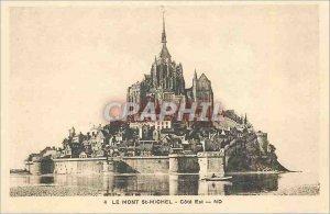 Old Postcard Mont Saint Michel Cote Est