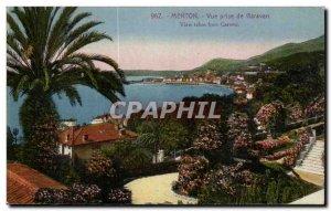Menton - Vue Prize Garavan - Old Postcard