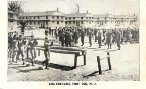 NJ - Fort Dix. Log Exercise (Military)
