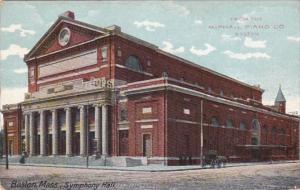 Massachusetts Boston Symphony Hall From The McPhail Piano Company 1943