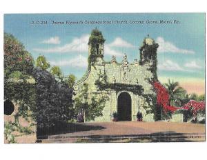D C 234 Unique Plymouth Congregational Church Coconut Grove Miami  Florida