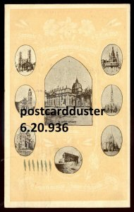 936 - MONTREAL Quebec Postcard 1910 Congres Eucharistic Multiview Churches
