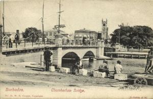 barbados, B.W.I., BRIDGETOWN, Chamberlain Bridge (1910s)