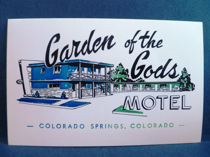 Postcard CO Colorado Springs Garden Of The Gods Motel