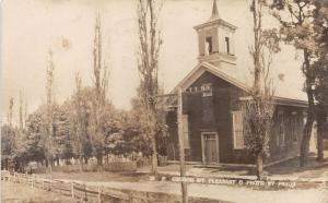 E84/ Mt Pleasant Ohio RPPC Postcard Jefferson County 1909 M.P. Church