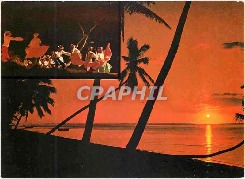 Modern Postcard Mauritius To lay down sun and dances of the sega