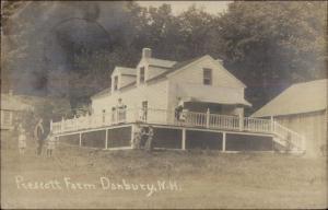 Danbury NH Prescott Farm c1915 Real Photo Postcard