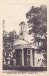 North Carolina Hillsboro Orange County Court House Albertype