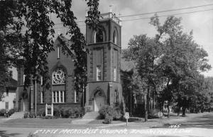 Brookings South Dakota First Methodist Church Real Photo Antique Postcard K55423