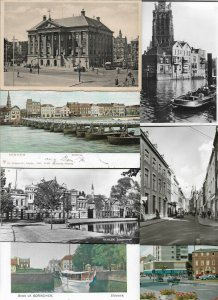 Netherlands Groningen Arnhem Gorinchem Postcard Lot of 74 With RPPC 01.06
