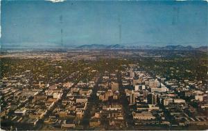 Aerial View Phoenix Arizona 1953 Postcard Roberts 3191