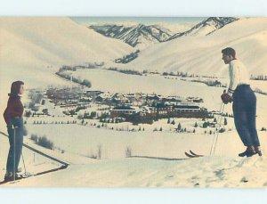 Pre-Chrome SKIING SCENE Sun Valley Idaho ID AG5379