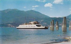 M.V. Anscomb, a free Government ferry crossing Kootenay Lake, Highway (3A), B...