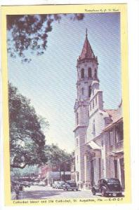 Cathedral Street and Old Cathedral, St. Augustine, Florida,   40-60s