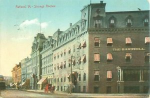 The Bardwell, Strongs Avenue, Rutland Vermont Postcard USED