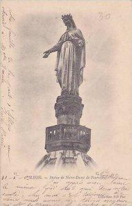France Lyon Statue de Notre Dame de Fourvieres 1903
