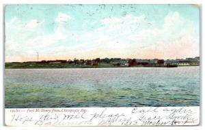 1907 Fort McHenry from Chesapeake Bay, MD Postcard