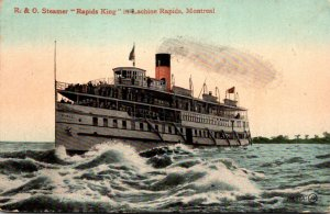 Canada Montreal Lachine Rapids R & O Steamer Rapids King 1911
