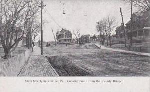 Pennsylvania Sellersville Main Street Looking South From Bridge Berkemeyer