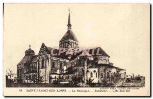 Old Postcard Saint-Benoît-sur-Loire Basilica Outside Cote Sud Est