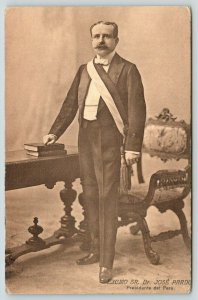 Lima Peru~President Dr Jose Pardo~Instituted Free & Compulsory Education~c1907