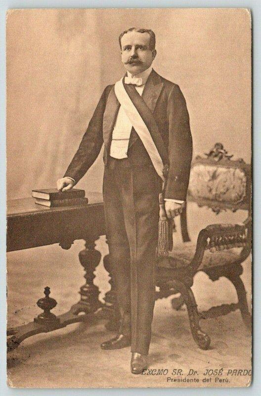 Lima Peru~President Dr Jose Pardo~Instituted Free & Compulsory Education~c1907