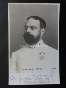 JOHN PHILLIP SOUSA American Composer & Conductor c1903 UB RP Postcard APPS 177