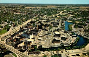 Maryland Salisbury Aerial View Looking Northeast Showing Business District
