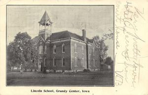 Grundy Center IA Lincoln School~Big Open Belltower~1906 Very Pretty Town