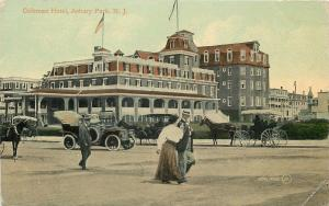 Asbury New Jersey~Coleman Hotel~Victorian Ladies & Gent~1910 Vintage Cars
