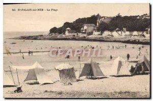 Postcard Old St Palais sur Mer Beach