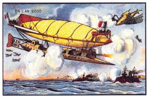 Postcard, A Vision of The Year 2000 in the 19th Century, Air Battle 2K2