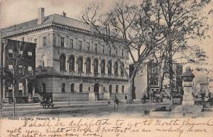Public Library, Newark, New Jersey, Early Postcard, Used in 1906
