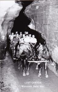 Wisconsin People On Horse and Wagon Lost Canyon Wisconsin Dells Real Photo