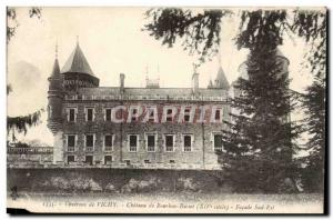 Surroundings of Vichy Old Postcard Chateau Bourbon Busset Facade south