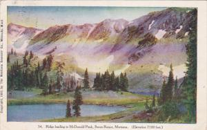 SWAN RANGE, Montana, PU-1909; Ridge Leading To McDonald Peak