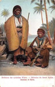Syria Beduin men with Guns Antique Postcard J76306