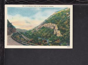 Picturesque View of the Mountains,VA Postcard