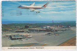 Seattle Tacoma Sea-Tac International Airport Washington Aerial View Postcard