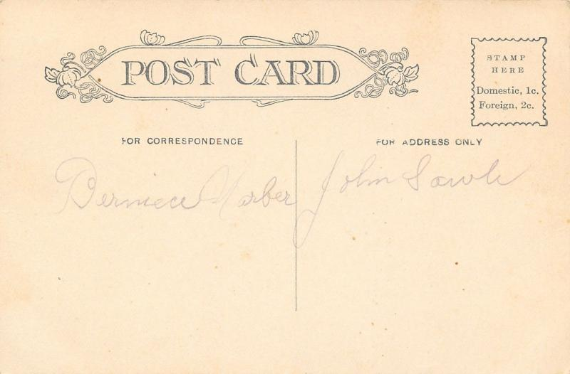 Elkhart Indiana~Hotel Bucklin~Vintage Auto~Bicycles on Curb~1908 B&W Postcard