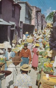 BRIDGETOWN , Barbados , B.W.I.,  1955 ; Vegetable Market