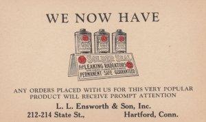 Solder Seal , L.L. Ensworth & Son , HARTFORD , Conn. , 1920s